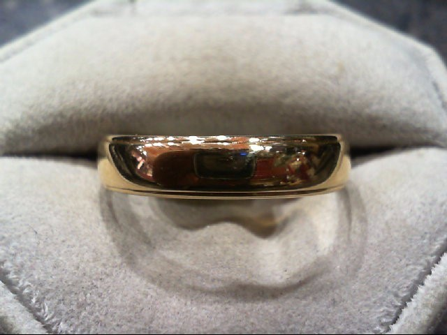 Gent's Gold Wedding Band 14K Yellow Gold 4.8g Size:13
