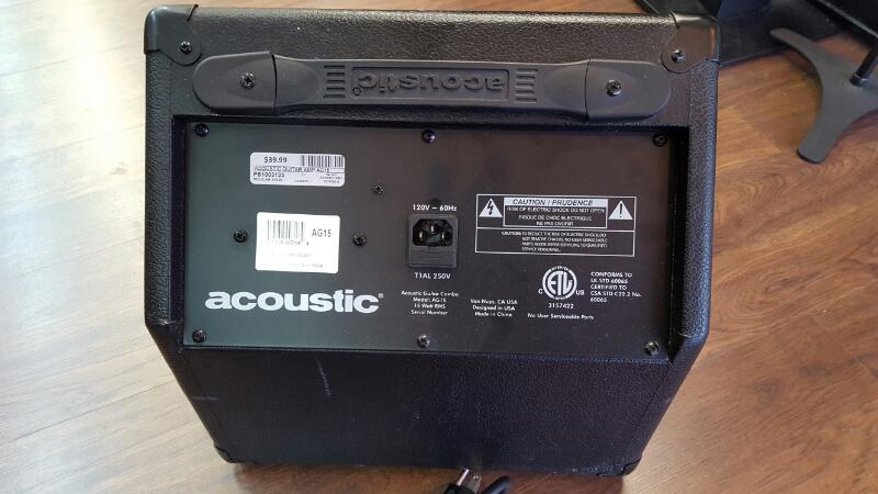 ACOUSTIC Electric Guitar Amp AG15 15 WATTS