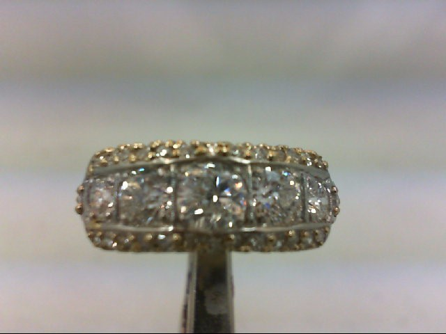 Lady's Gold-Diamond Anniversary Ring 33 Diamonds 1.96 Carat T.W. 14K White Gold