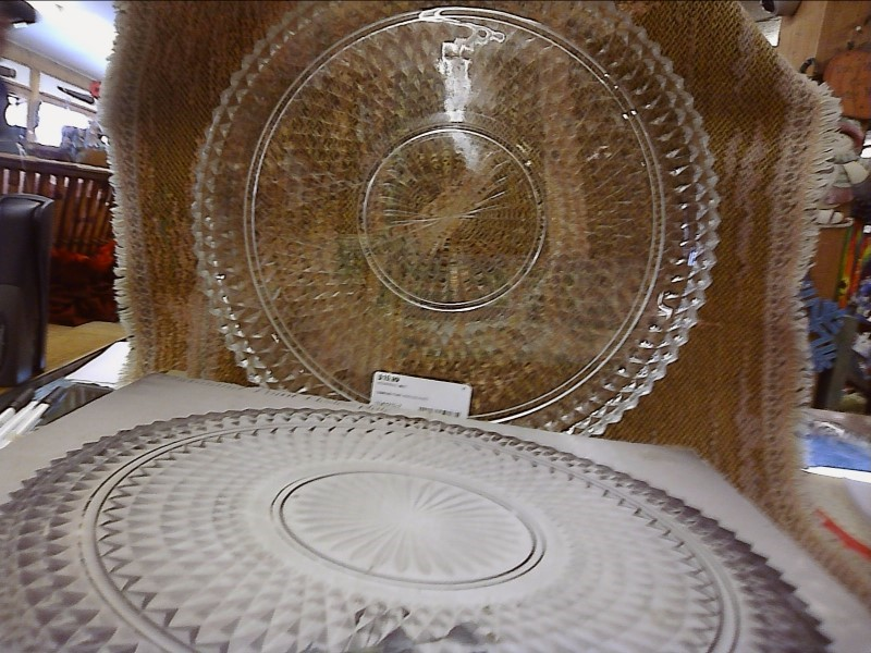 MISC HOUSEHOLD MISC USED MERCH MISC USED MERCH; DIAMIOND POINT HOSTESS PLATE