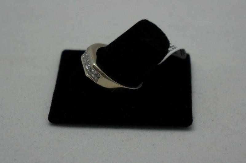 Gent's Diamond Cluster Ring 24 Diamonds .72 Carat T.W. 14K Yellow Gold 3.8dwt