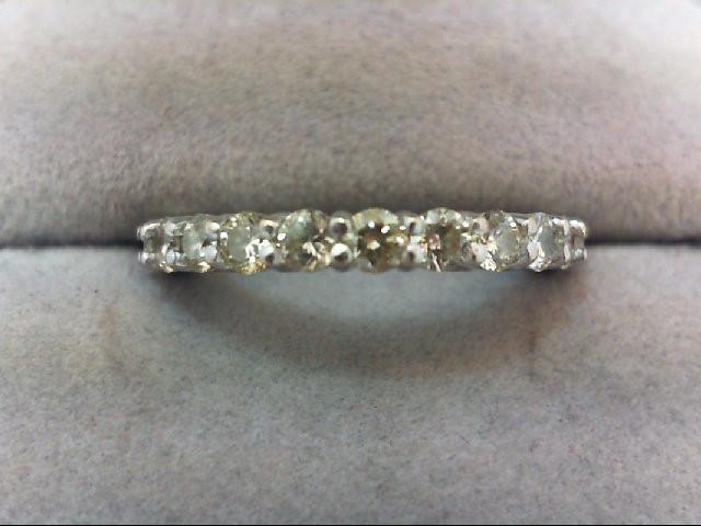 Lady's Diamond Wedding Band 11 Diamonds .77 Carat T.W. 18K White Gold 3.75g