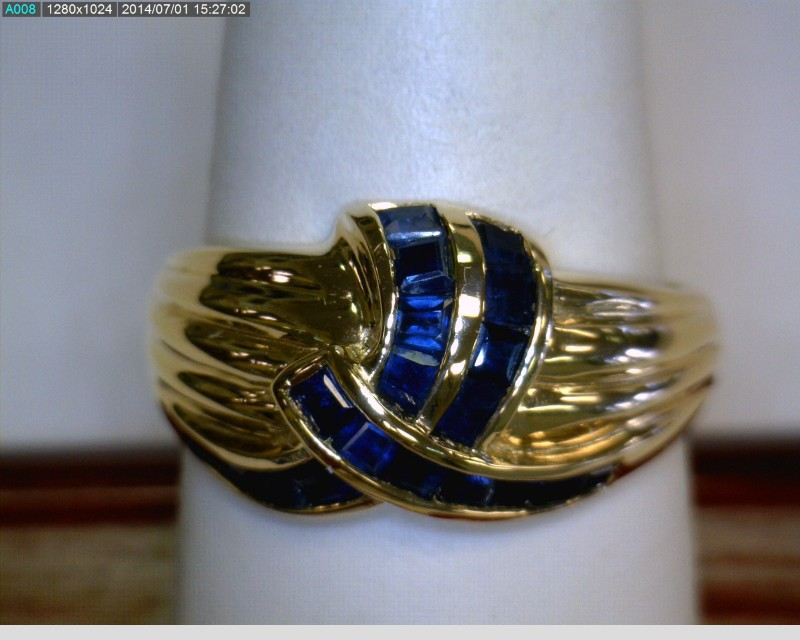 Sapphire Lady's Stone Ring 14K Yellow Gold 2.7dwt Size:8