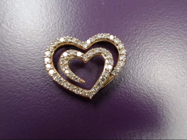 Gold-Multi-Diamond Pendant 49 Diamonds .49 Carat T.W. 14K Yellow Gold 2.27g