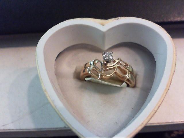 Lady's Diamond Engagement Ring .10 CT. 14K Yellow Gold 3.2g