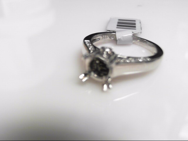 Semi Mount  12 Diamonds .20 Carat T.W. 14K White Gold 4.6g