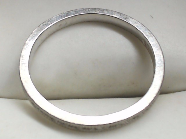 Lady's Gold Ring 18K White Gold 2.5g Size:6.5