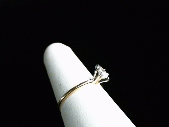 Lady's Diamond Solitaire Ring .30 CT. 14K Yellow Gold 1.4g Size:6