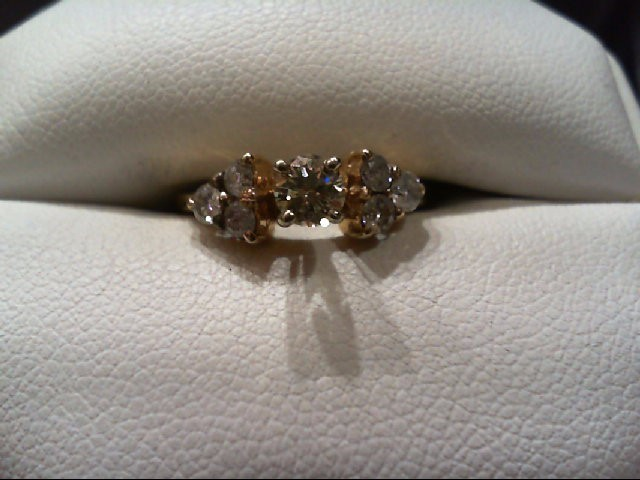 Lady's Diamond Engagement Ring 7 Diamonds .61 Carat T.W. 14K Yellow Gold 1.9g