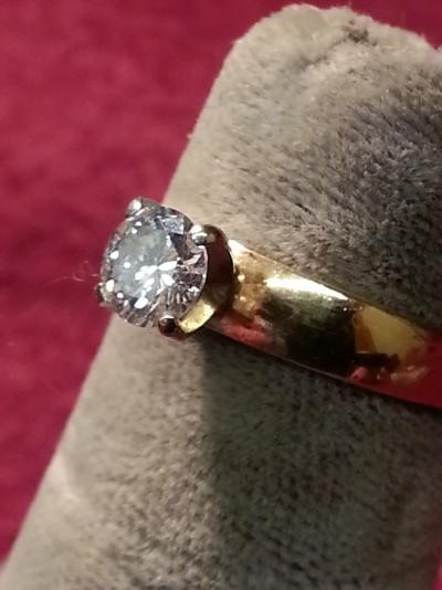 Lady's Diamond Solitaire Ring .45 CT. 14K Yellow Gold 1.5dwt