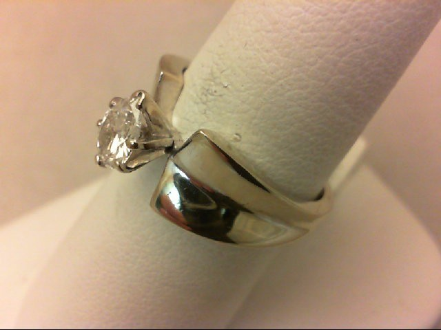 Lady's Diamond Solitaire Ring .50 CT. 14K White Gold 5.96g