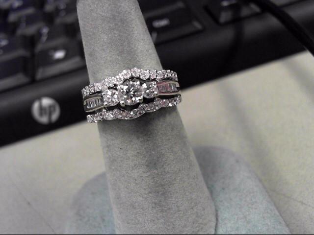 Lady's Diamond Wedding Set 49 Diamonds .91 Carat T.W. 14K White Gold 7.61g