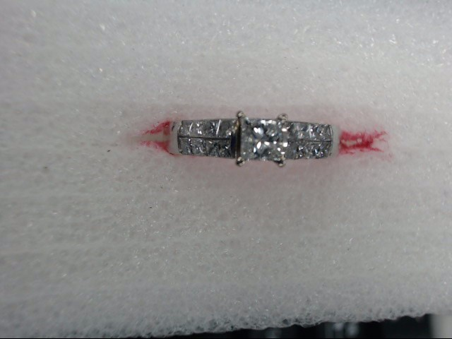 Lady's Diamond Solitaire Ring .50 CT. 14K White Gold 2.75dwt