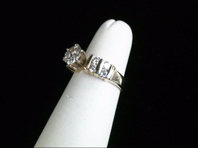 Lady's Diamond Engagement Ring 9 Diamonds 1.07 Carat T.W. 14K Yellow Gold 5.3g