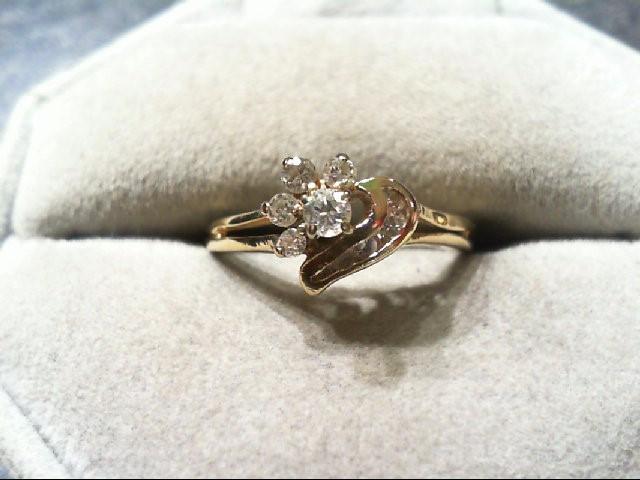 Lady's Diamond Fashion Ring 9 Diamonds .26 Carat T.W. 14K Yellow Gold 2g