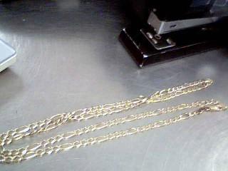 """26"""" Gold Figaro Chain 14K Yellow Gold 13.2g"""