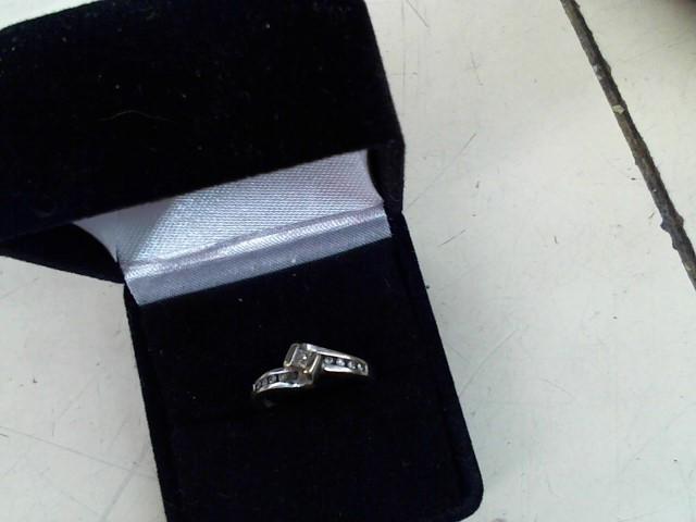 Lady's Diamond Fashion Ring 11 Diamonds .20 Carat T.W. 14K White Gold 2.6g