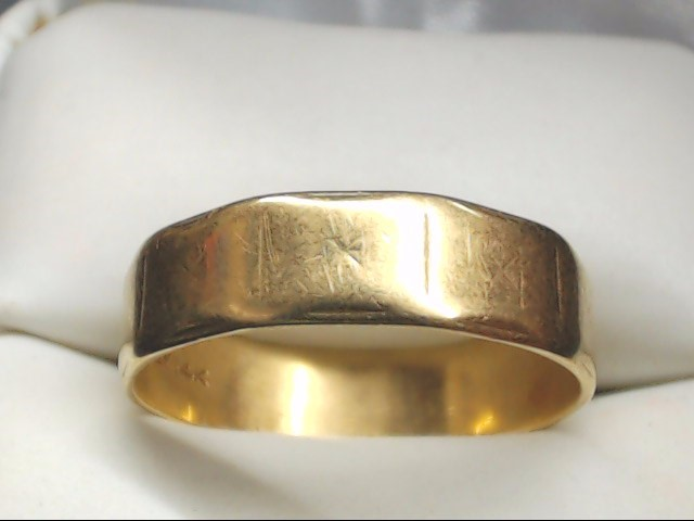 Gent's Gold Wedding Band 14K Yellow Gold 3.8g Size:10
