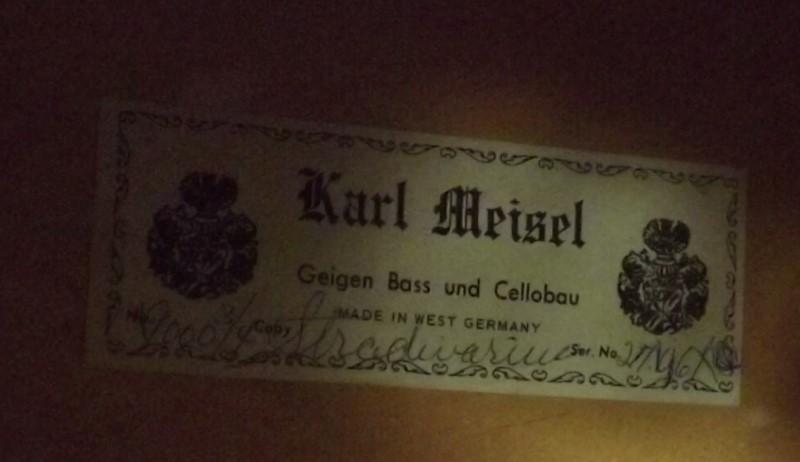 KARL MEISEL UPRIGHT BASS