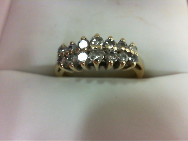 Lady's Diamond Wedding Band 14 Diamonds 0.36 Carat T.W. 14K Yellow Gold 2.8g Siz