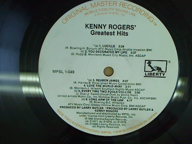 KENNY ROGERS GREATEST HITS