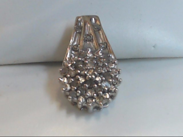 Gold-Multi-Diamond Pendant 25 Diamonds .25 Carat T.W. 10K White Gold 1.8g