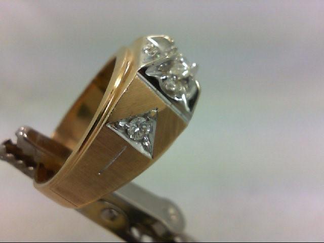 Gent's Diamond Fashion Ring 7 Diamonds .75 Carat T.W. 14K Yellow Gold 12.94g