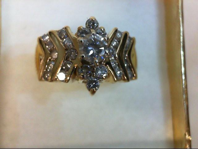 Lady's Diamond Wedding Band 26 Diamonds 0.75 Carat T.W. 14K Yellow Gold 5.1g