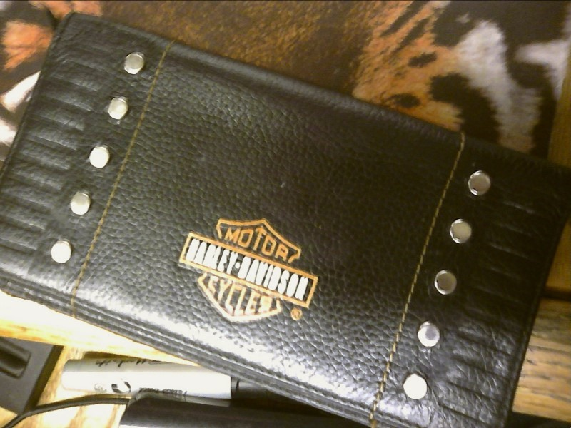 HARLEY DAVIDSON LEATHER WALLET/CHECKBOOK