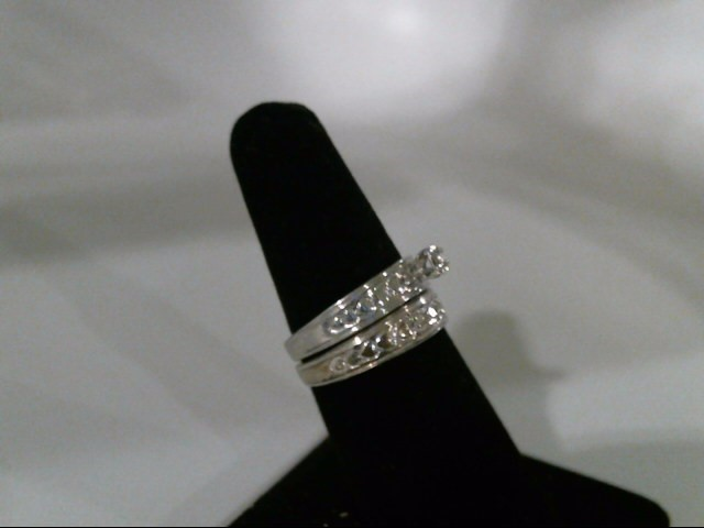 Lady's Silver-Diamond Ring .05 CT. 925 Silver 4.1g