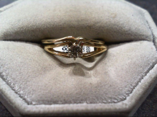 Lady's Diamond Wedding Set .15 CT. 14K Yellow Gold 3.4g