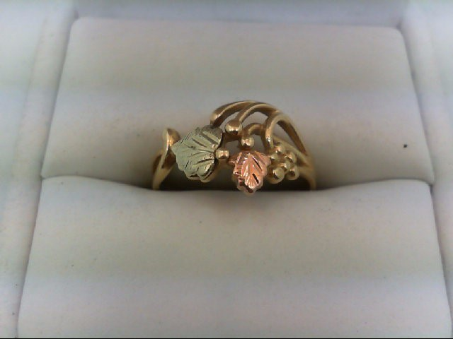 Lady's Gold Ring 10K Tri-color Gold 2.1g Size:7.25