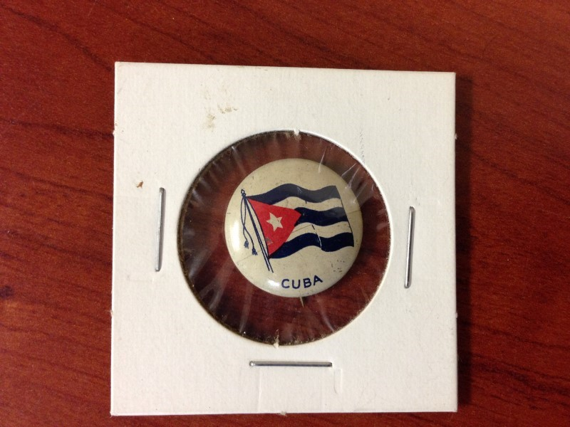 VINTAGE CUBA FLAG PIN VERY GOOD CONDITION