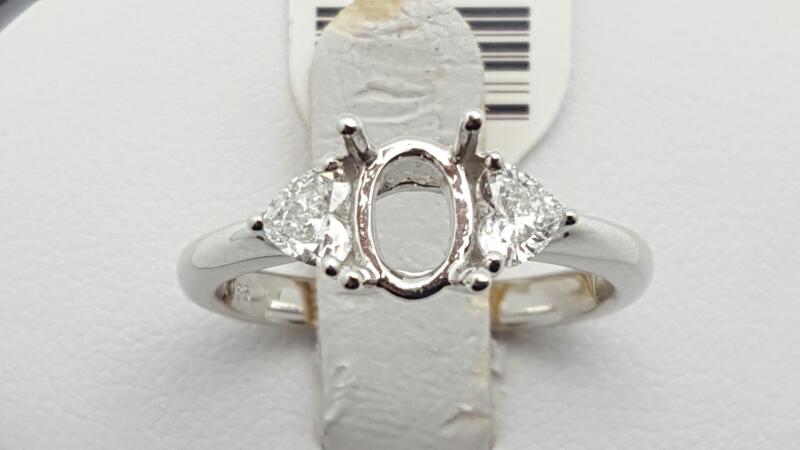 Lady's Diamond Fashion Ring 2 Diamonds .40 Carat T.W. 14K White Gold 3.1g