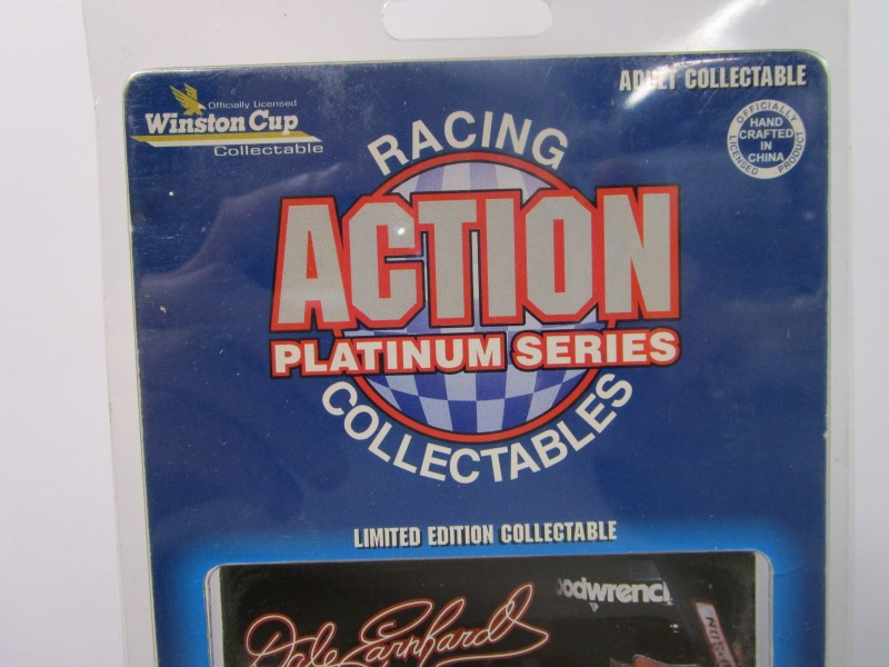 ACTION RACING COLLECTIBLES DALE EARNHARDT #3 PLATINUM SERIES, 1996, PLUS BACKYAR