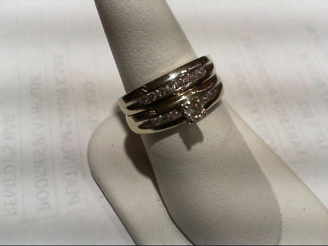 Lady's Diamond Wedding Set 15 Diamonds .75 Carat T.W. 10K White Gold 8.56g