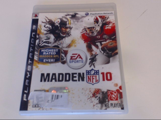 MADDEN 10 PS3 GAME