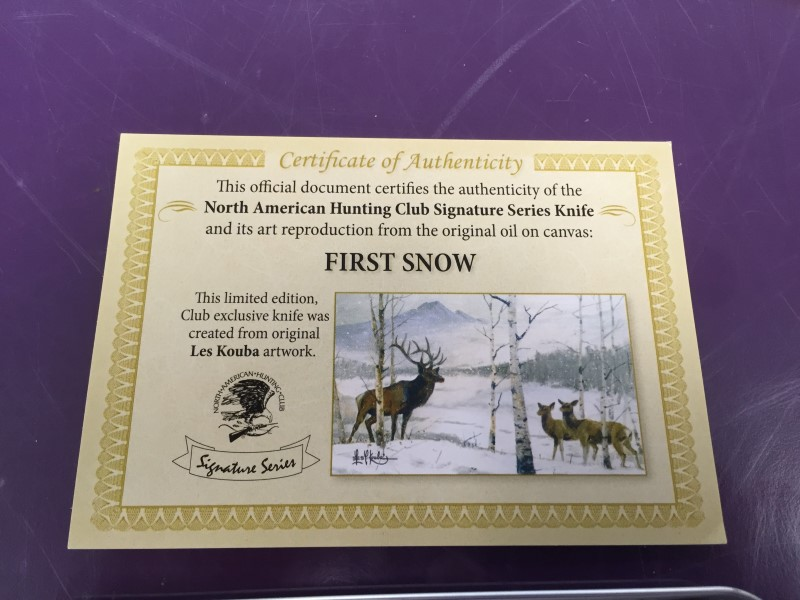 NORTH AMERICAN HUNTING CLUB Pocket Knife FIRST SNOW