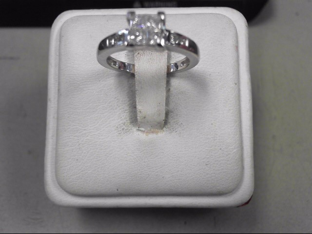 Lady's Platinum Diamond Cluster 10 Diamonds .52 Carat T.W. 950 Platinum 3g