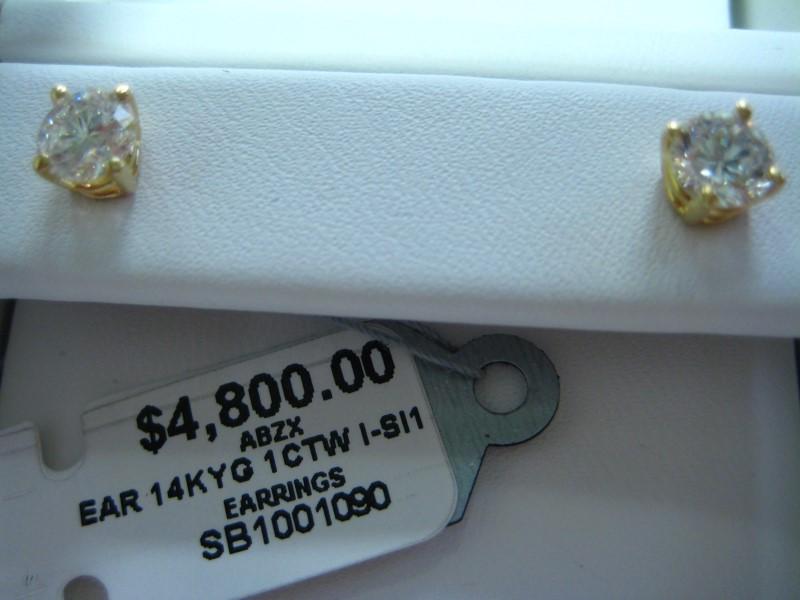 Gold Earrings 14K Yellow Gold 0.9g
