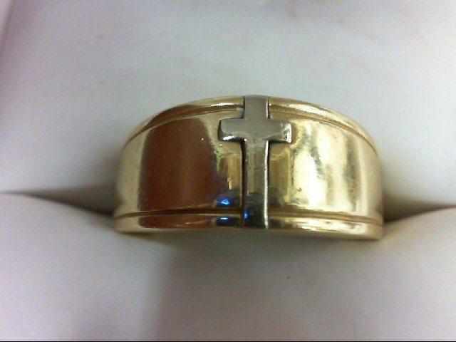 Gent's Gold Ring 14K 2 Tone Gold 8.5g Size:6