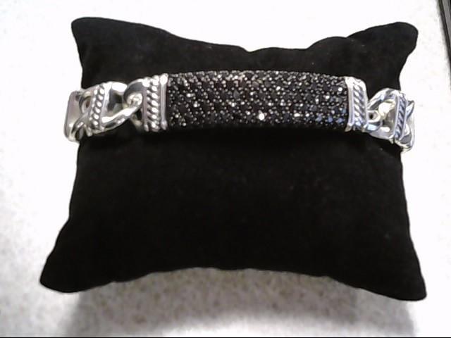 David Yurman Black Dia .925 Bracelet 132 Dia 3.96 Carat T.W. 925 Silver Bracelet