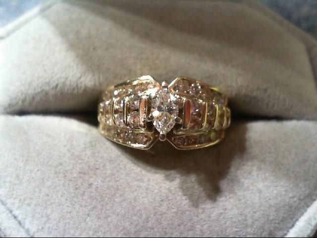 Lady's Diamond wedding band 37 Diamonds 1.35 Carat T.W. 14K Yellow Gold 4.6g