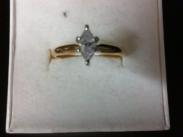Lady's Diamond Engagement Ring 0.33 CT. 14K Yellow Gold 2.1g