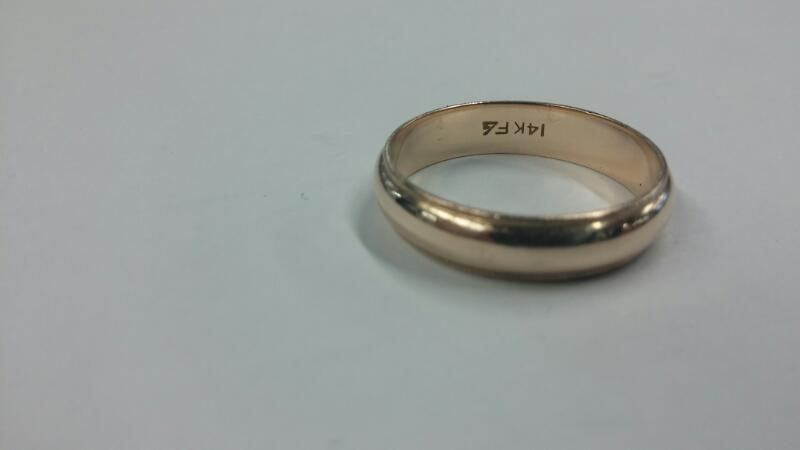Gent's Ring 14K Yellow Gold COIN EDGE Size:10