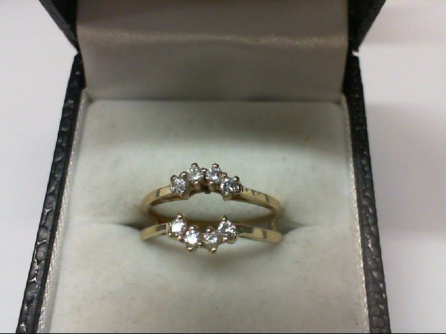 Lady's Gold-Diamond Ring Guard 8 Diamonds 0.24 Carat T.W. 14K Yellow Gold 3.3g