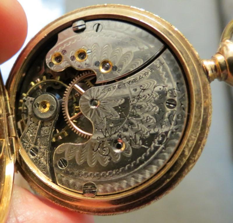 Antique WALTHAM Pocket Watch 14K-LADIES GOLD POCKET WATCH