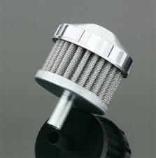 BIKER'S CHOICE 491259, CHROME FACETED BREATHER FILTER
