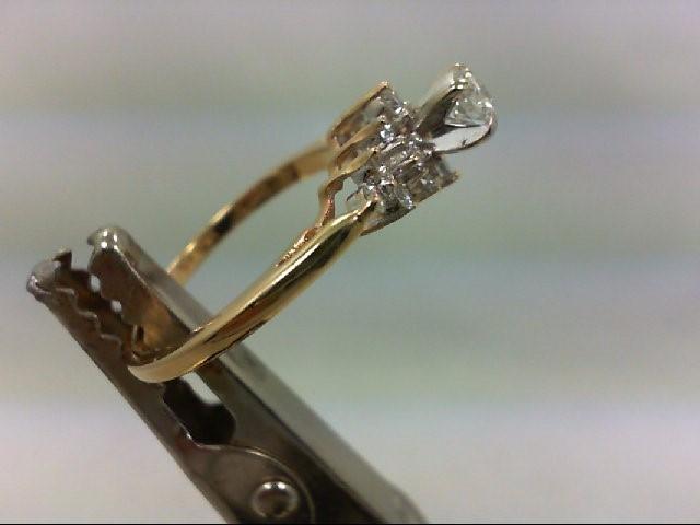 Lady's Diamond Engagement Ring 15 Diamonds .48 Carat T.W. 14K Yellow Gold 2.6g