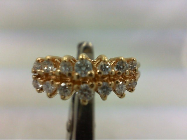 Lady's Diamond Cluster Ring 14 Diamonds .64 Carat T.W. 14K Yellow Gold 3.6g